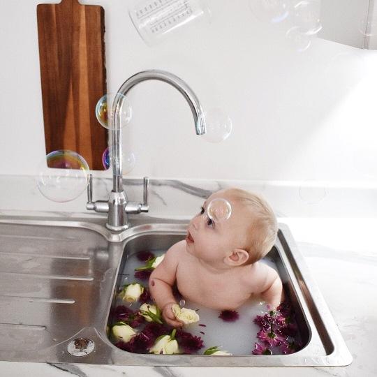 bubble sink bath